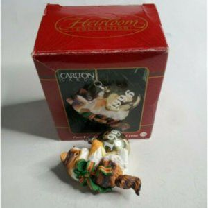 1996 Carlton Cards Ornament Purr-Fect Holidays